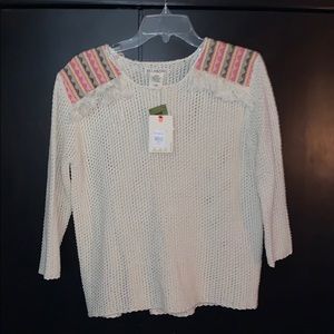 Billabong Fringed Knit Sweater